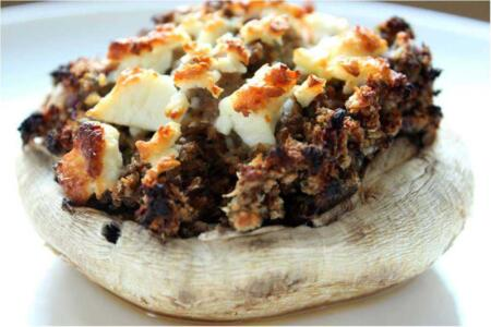 Cheese and Bacon Stuffed Mushrooms