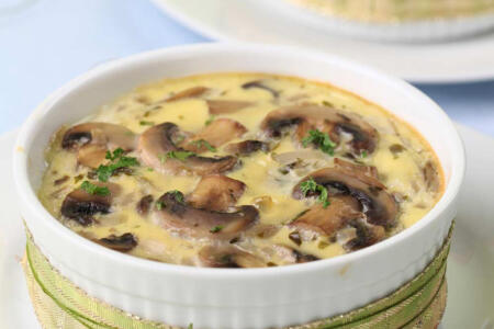 Mushroom and Feta Crustless Quiche